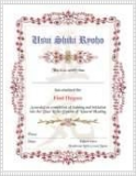 1st Level Reiki Certificate