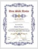 Reiki 3B Level Degree Certificate, Reiki 4th Level Degree Certificate